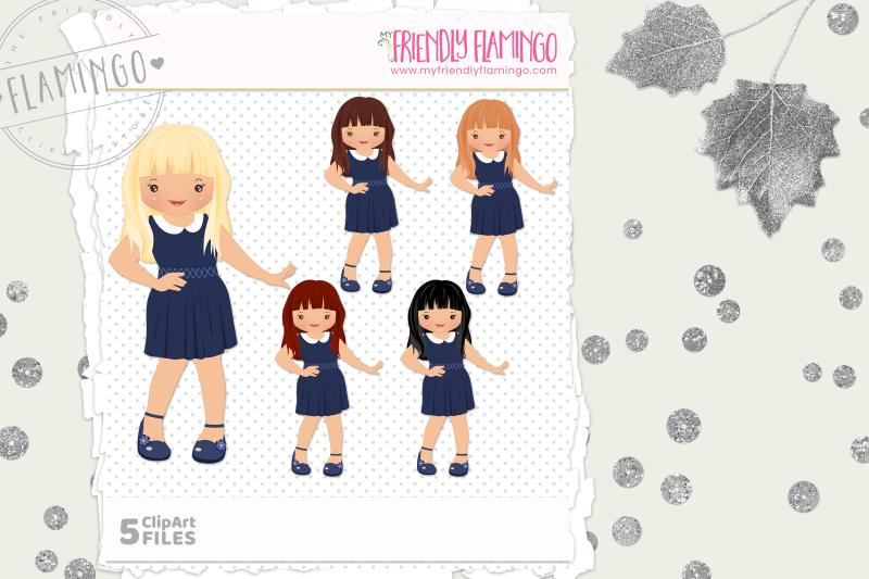 cutie-girl-clipart-set