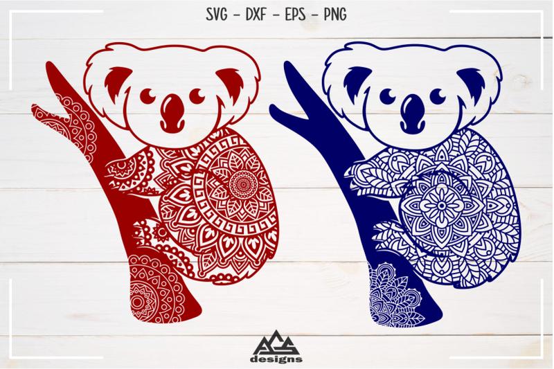 cute-koala-floral-mandala-svg-design