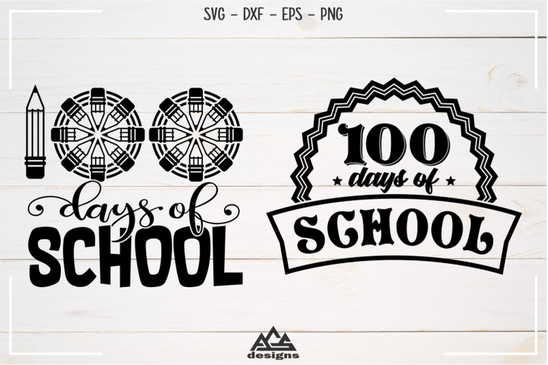 100-days-of-school-svg-design
