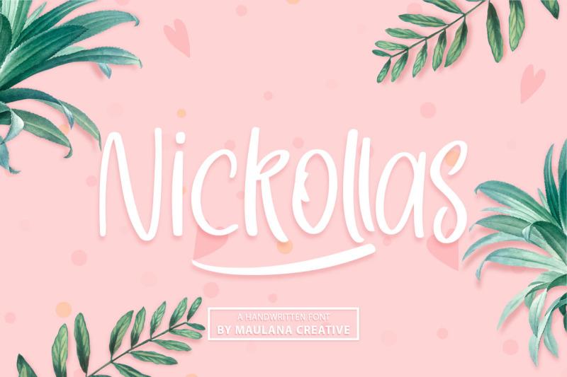 nickollas-handwritten-sans-serif-font