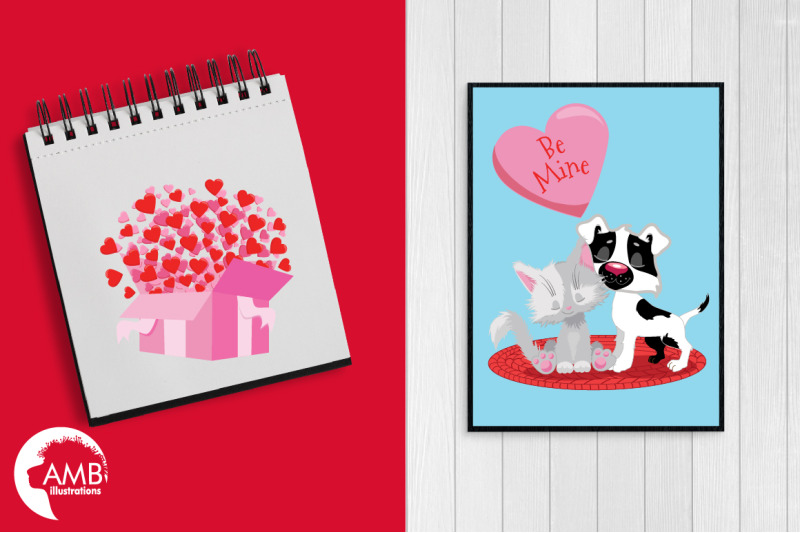 valentine-cat-039-s-clipart-pack-amb-2709