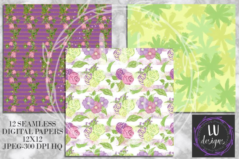 spring-digital-papers-floral-patterns-garden-scrapbook-backgrounds