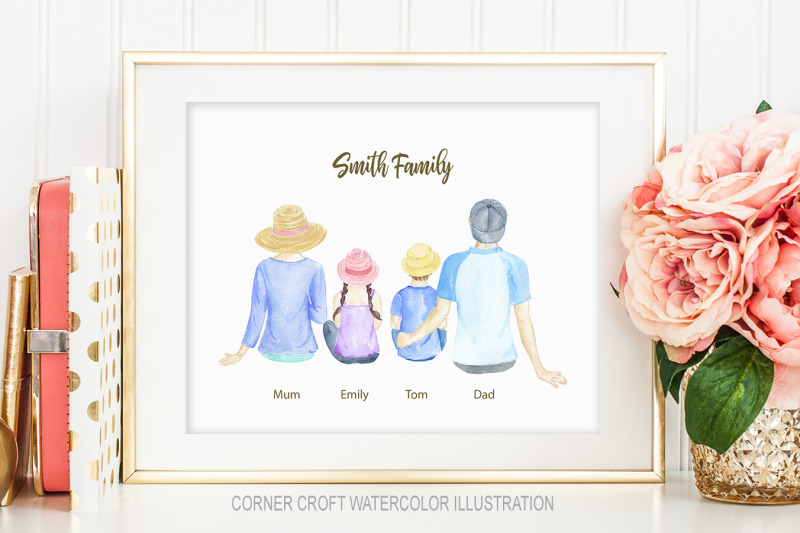 watercolor-clipart-family-sitting-back