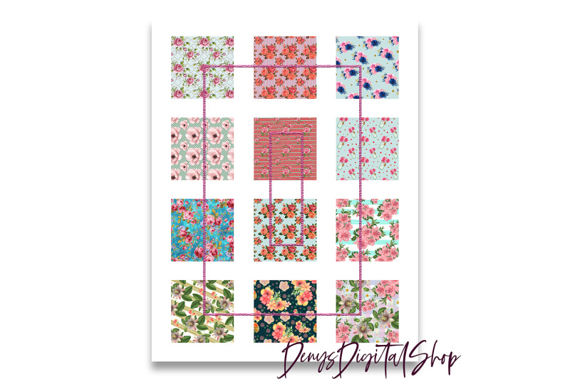 shabby-chic-digital-collage-sheet-flower-pattern