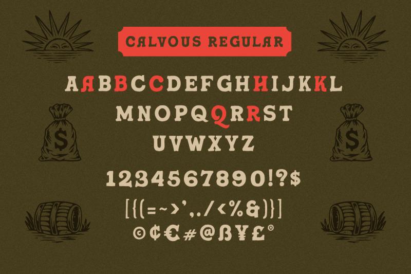 calvous-slab-serif-typeface