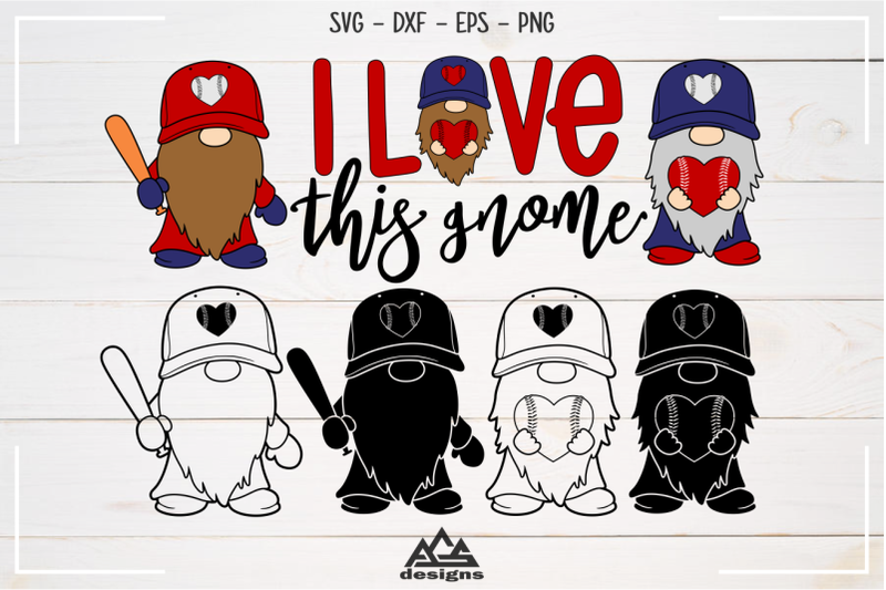 baseball-love-this-gnome-sport-svg-design