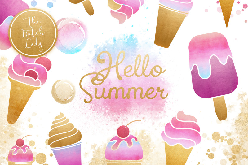 summer-icecream-amp-popsicle-clipart-set