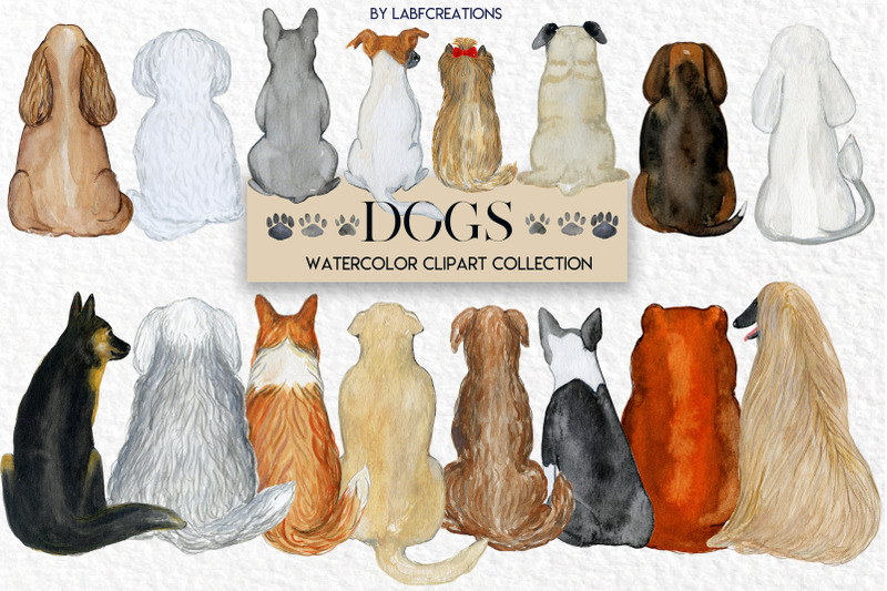 dogs-watercolor-backs-of-dog
