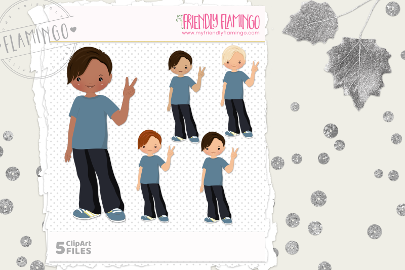 cute-boy-clipart-set
