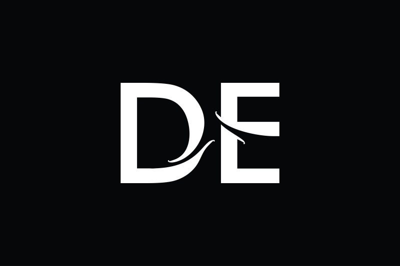de-monogram-logo-design