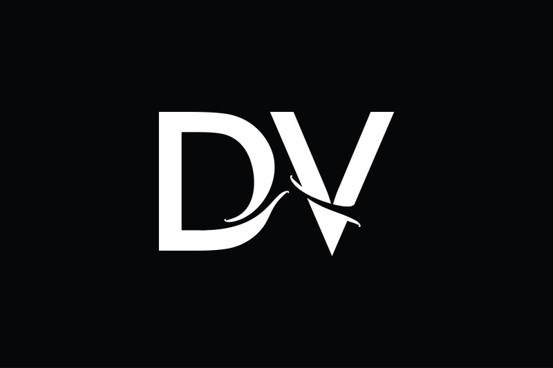 dv-monogram-logo-design