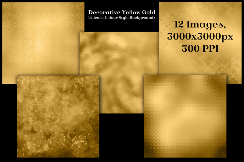 decorative-yellow-gold-unicorn-colour-style-backgrounds-textures