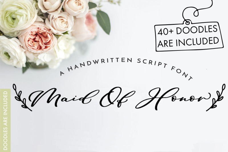 maid-of-honor-a-script-font-with-matching-doodles