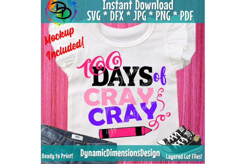 100-days-of-cray-cray-svg-100th-day-of-school-svg-100-days-teacher