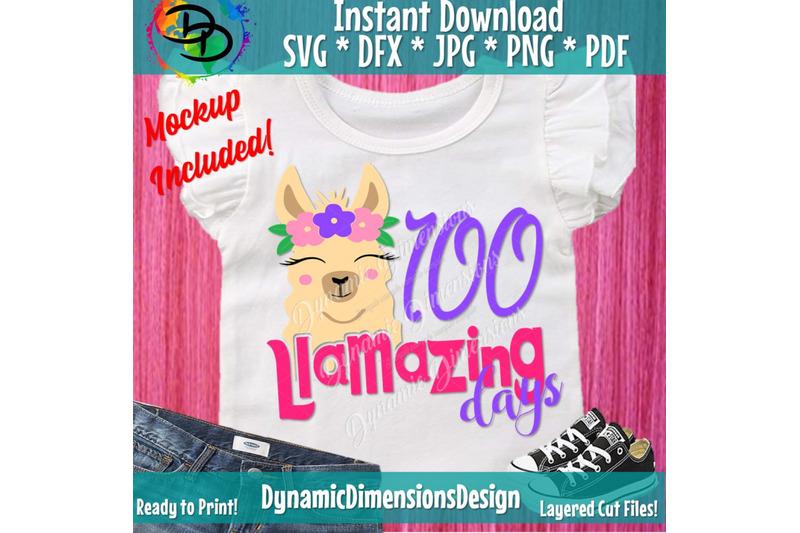 100-days-svg-100th-day-of-school-svg-llama-svg-100-llamazing-days