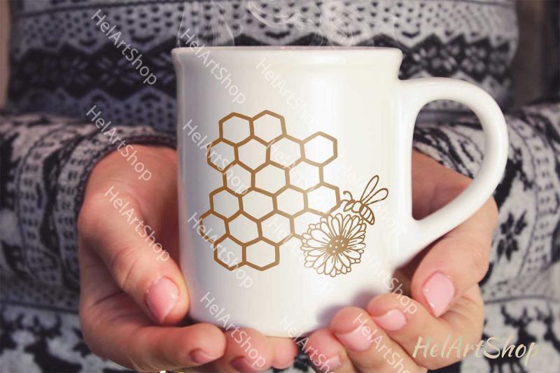 honeycomb-svg-bee-svg-floral-bee-svg-honey-bee-svg