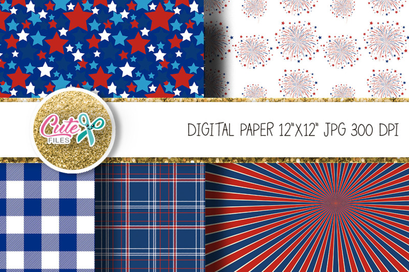 patriotic-digital-paper-with-gnome-clipart