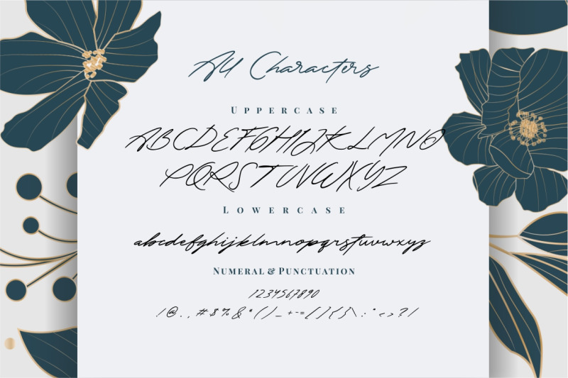 the-excited-signature-font