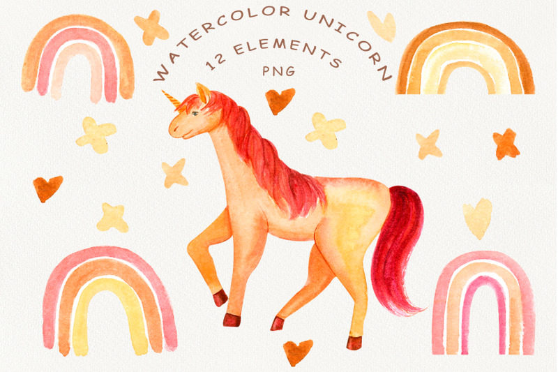 watercolor-unicorn-pink-rainbow