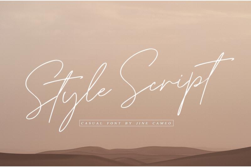 style-script-casual-font