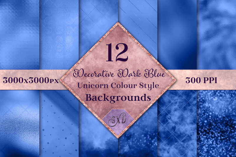 decorative-dark-blue-unicorn-style-backgrounds-textures