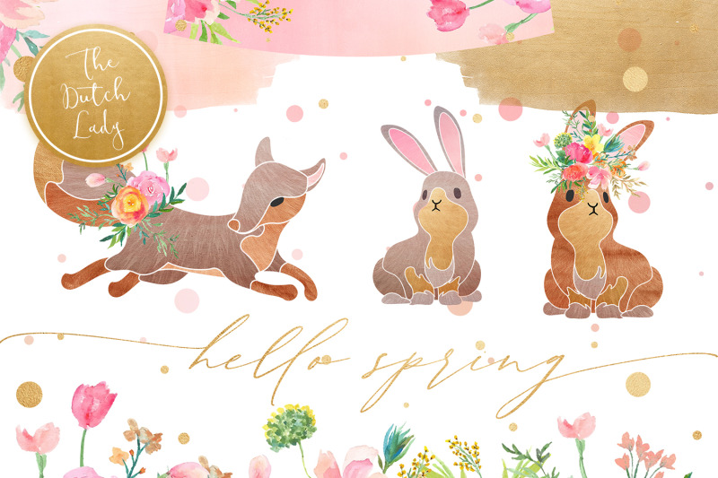 hello-spring-clipart-set