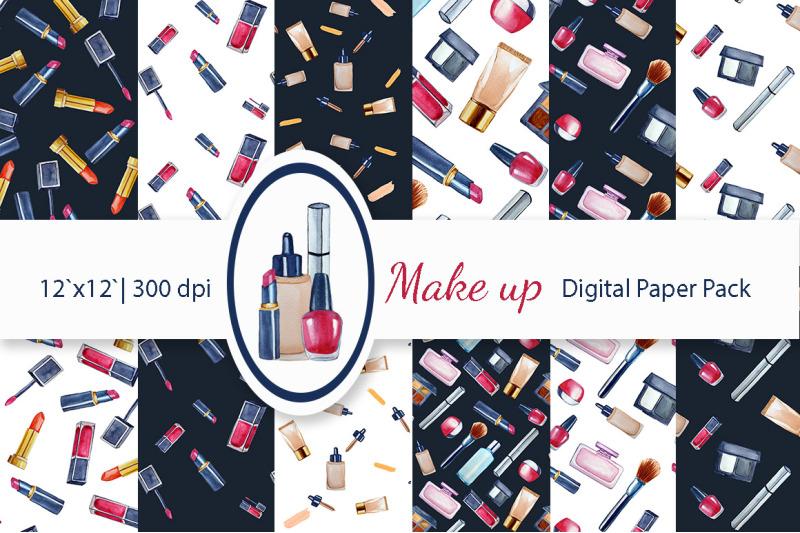 watercolor-makeup-digital-paper-pack