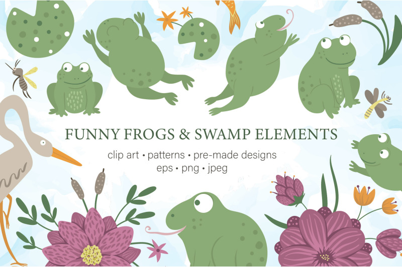 funny-frogs-and-swamp-elements