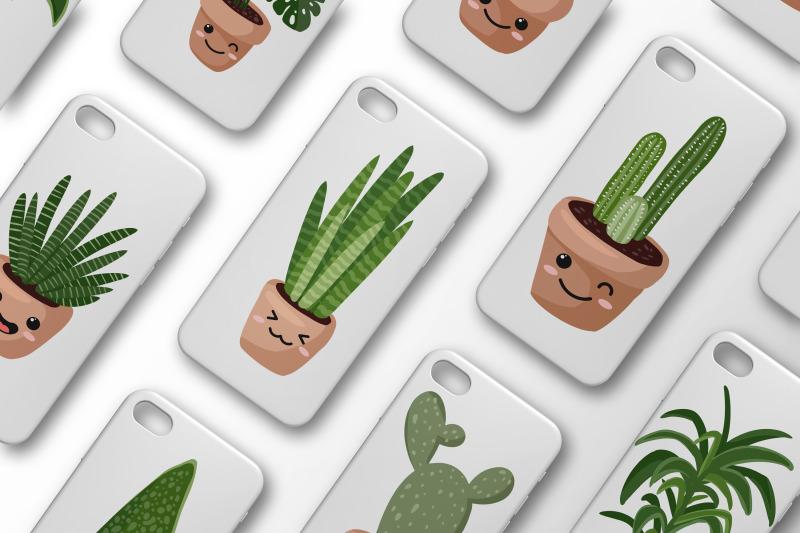kawaii-plants-cute-set
