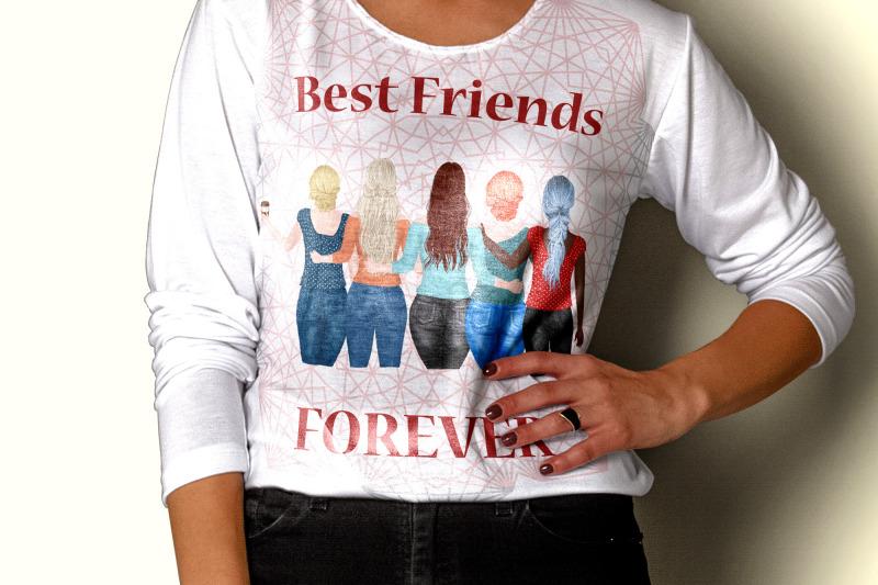 best-friends-clipart-plus-size-girls-portrait-creator