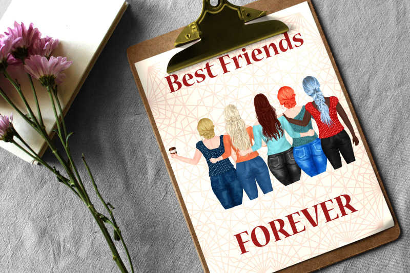 best-friends-clipart-plus-size-girls-portrait-creator