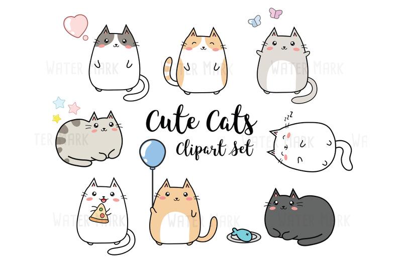 cats-clipart-cute-kawaii-cats-clip-art-cats-clip-art