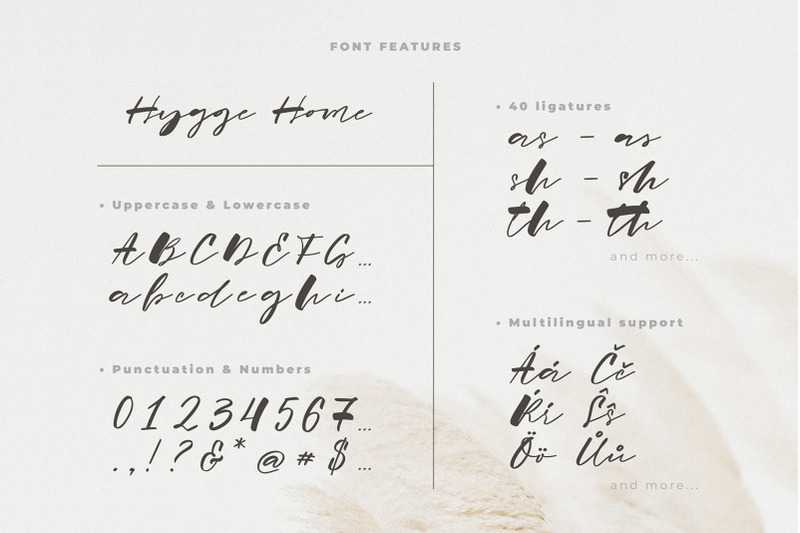 hygge-home-signature-font