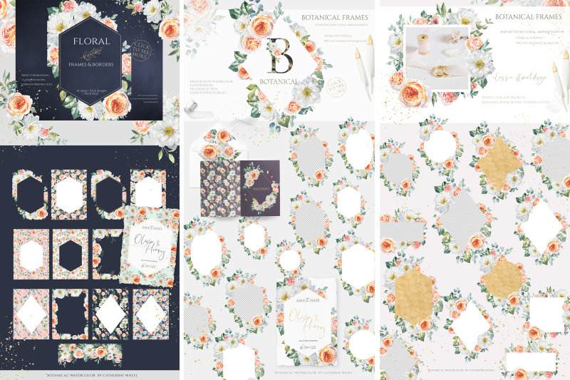 sale-botanical-watercolor-floral-set