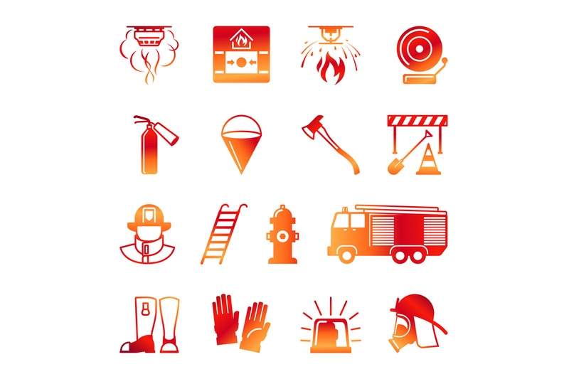 firefighter-colorful-icons