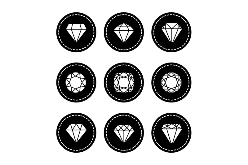 white-diamonds-icons-set