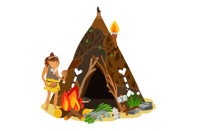 young-ancient-girl-cooking-at-open-fire-cave-stone-age-house-primit