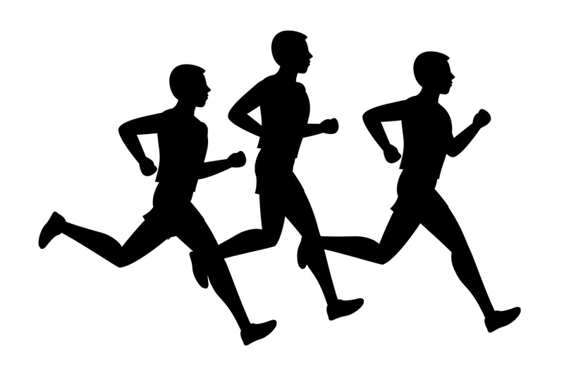 running-or-jogging-vector-male-silhouettes-isolated-on-white-backgroun
