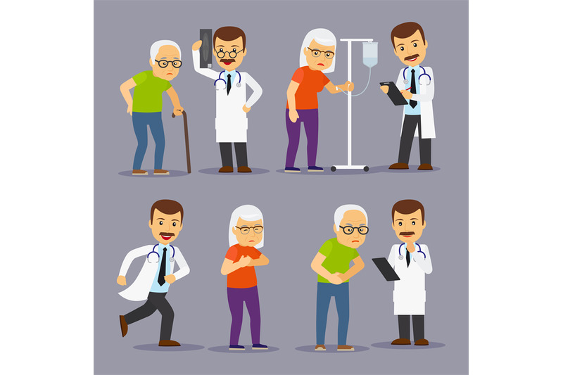doctors-and-elderly-people-medicine-for-old-people-vector-illustratio