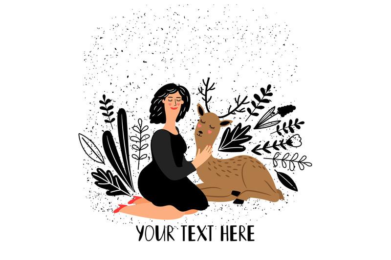 girl-with-deer-animal