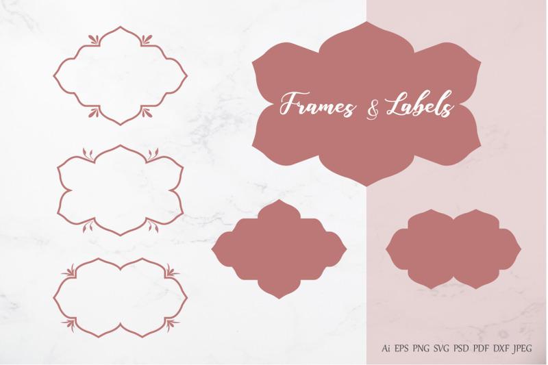 decorative-floral-frames-and-labels-vector-design-element