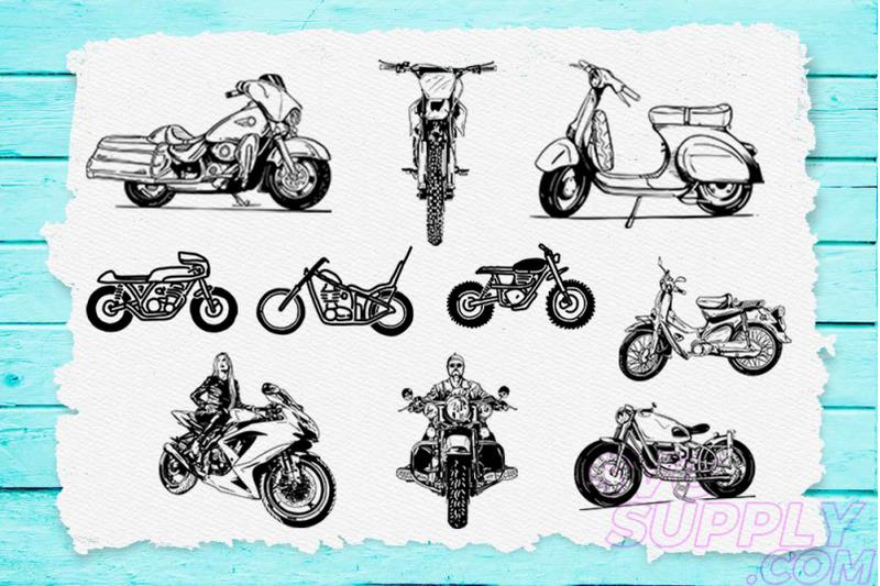 motorcycle-lineart-t-shirt-design-bundle