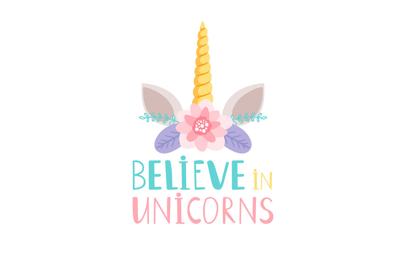 unicorn-horn-and-flowers-poster