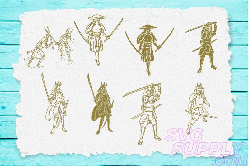 samurai-t-shirt-design-bundle