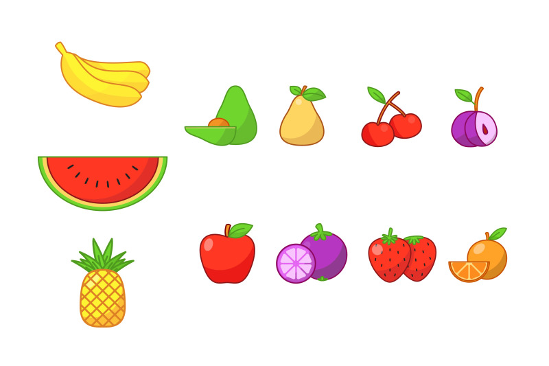 set-of-colourful-fruits-clipart