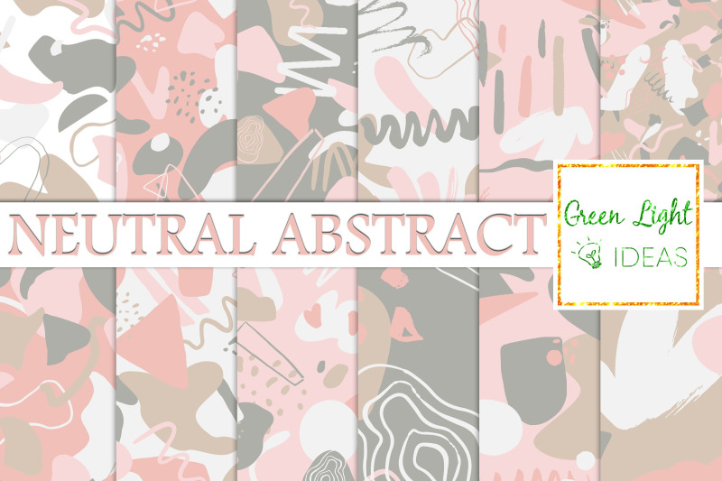neutral-abstract-digital-papers-geometric-scrapbook-backgrounds