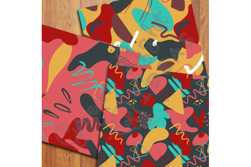 tribal-abstract-digital-papers-bold-trendy-geometric-patterns