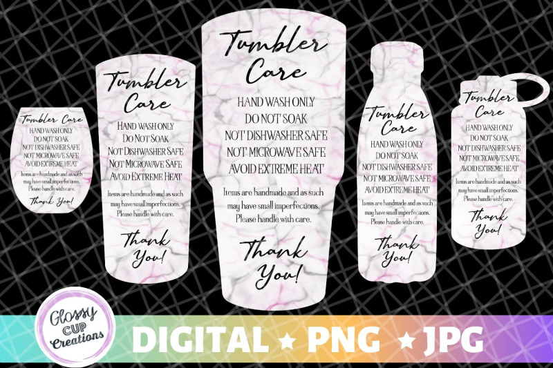 tumbler-care-cards-black-and-pink-marble-5-pack