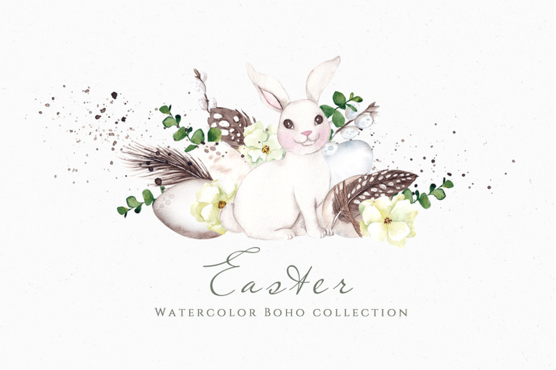 easter-watercolor-boho-collection