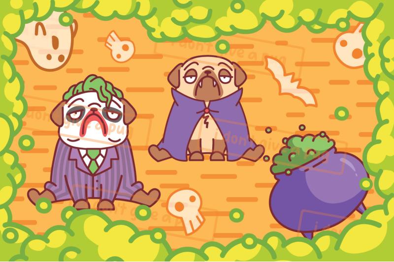 pug-dog-halloween-party
